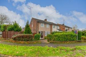 Situated on a large corner plot with south facing rear garden.