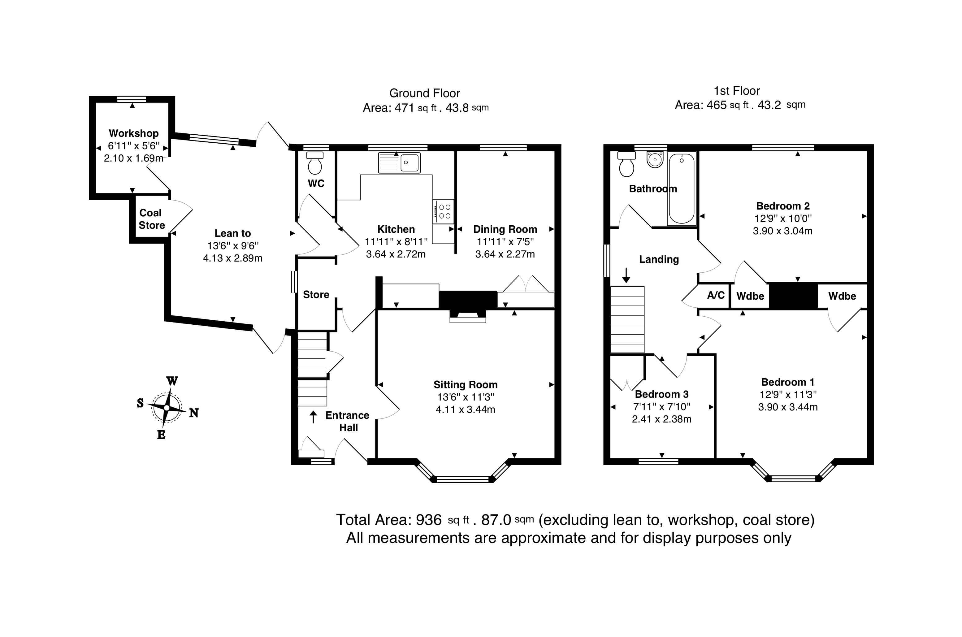 David Cosby Chartered Surveyors & Estate Agents - PINEWOOD DRIVE, BLETCHLEY - Floor Plans