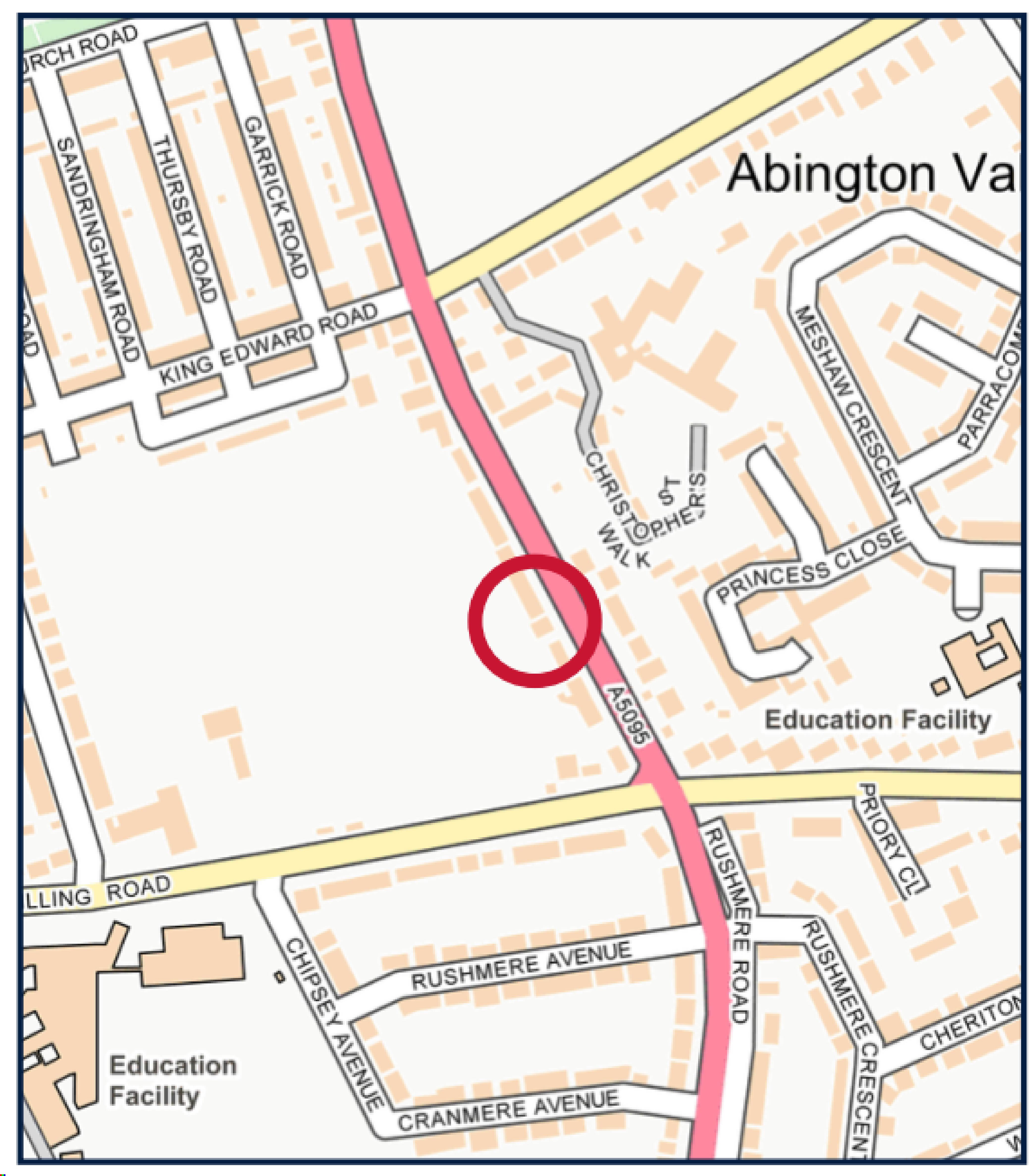 David Cosby Chartered Surveyors & Estate Agents - Southwood Northampton - Location Plan