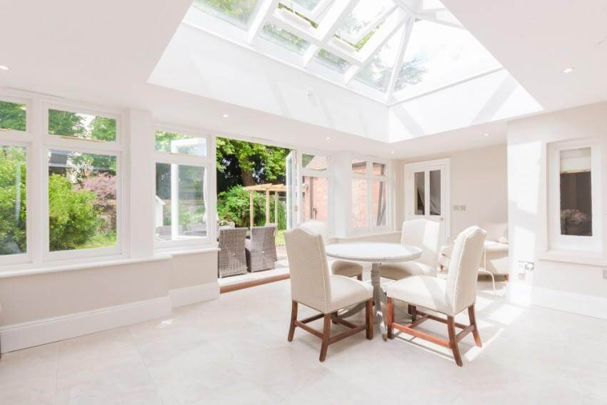 Architectural Work - Extensions and Alterations - The Chilterns, Dining Room with Lantern