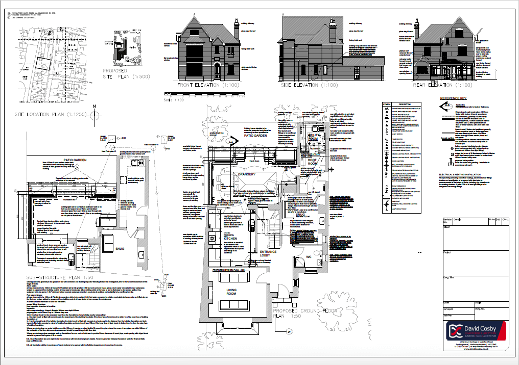 Architectural Work - Extensions and Alterations - The Chilterns, Building Control Drawings