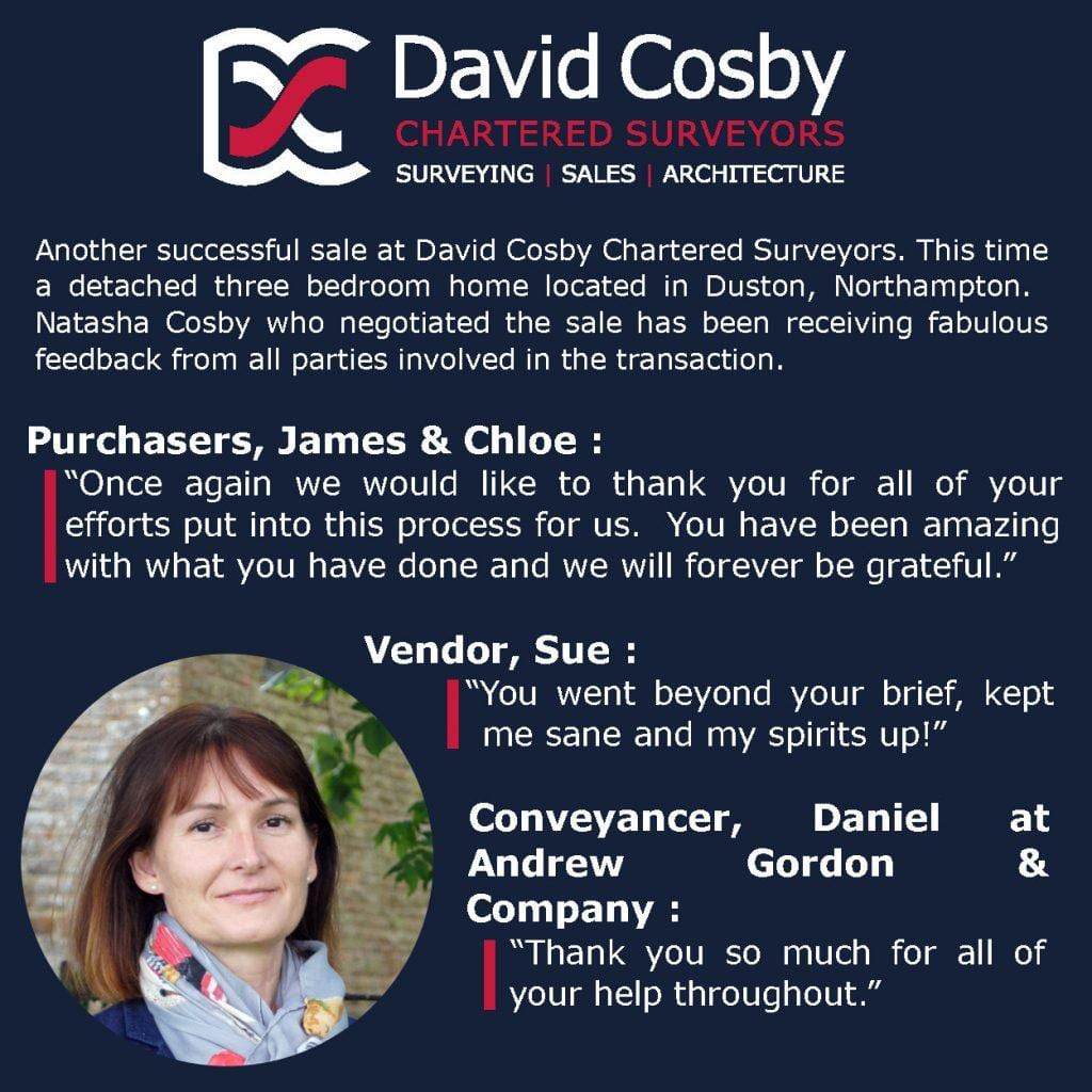 David Cosby Estate Agency - Sales Testimonial 12.06.20
