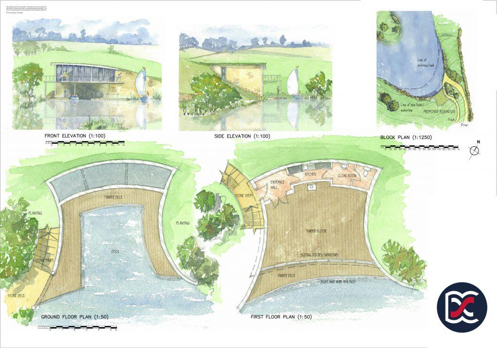 Watercolour Planning Drawings