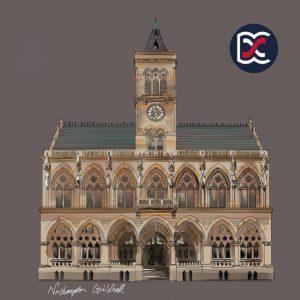 Northampton Guildhall Illustration
