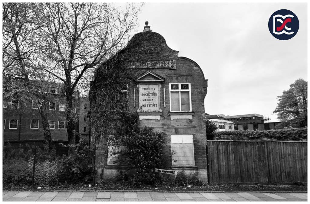 Friendly Societies Medical Institute - Black and White Image